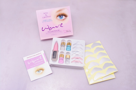 Pink Wave Eyelashes Perm Kit For Perfect Lashes With Three Different Sizes Perm Rods
